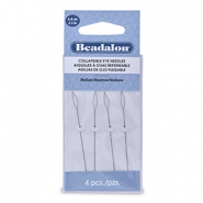 Beadalon Collapsible Eye Needles 6.4mm medium Silver