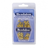 Beadalon Crimp Cover Assorted Gold