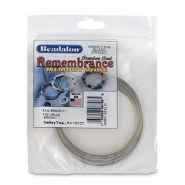 Beadalon Remembrance Memory Wire Extra Large Bracelet Bright Stainless Steel