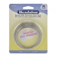 Beadalon Wrapping Wire Stainless Steel 26Gauge Bight Stainless Steel