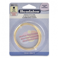 Beadalon German Style Wire 24Gauge Round Gold