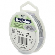 Beadalon stringing wire 7 strand 0.46mm Satin Silver