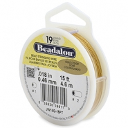 Beadalon stringing wire 19 strand 0.46mm Gold