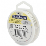 Beadalon stringing wire 19 strand 0.46mm Silver