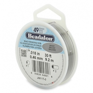 Beadalon stringing wire 49 strand 0.46mm Bright Stainless Steel