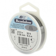 Beadalon stringing wire 49 strand 0.38mm Bright Stainless Steel