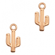 DQ European metal charms cactus Rose Gold (nickel free)