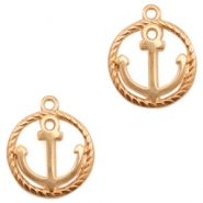 DQ European metal charms anchor Rose Gold (nickel free)