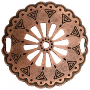 Charms TQ metal connector Mandala 52mm Copper (Nickel Free)