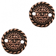 Charms TQ metal connector Oriental coin 17mm Copper (Nickel Free)