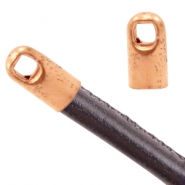 Findings TQ metal end cap Ø3.2mm Rose Gold (Nickel Free)