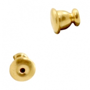 Findings TQ metal earring backs Gold (Nickel Free)