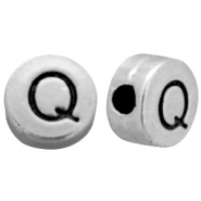 Metal-look beads letter Q Antique Silver