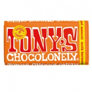 Tony's Chocolonely chocolate bar milk caramel sea salt 180 grams