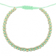 Ready-made Bracelets strass Light Turquoise Green-Crystal