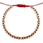 Ready-made Bracelets strass Cherry Red-Crystal