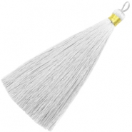 Tassels 13cm Light Grey