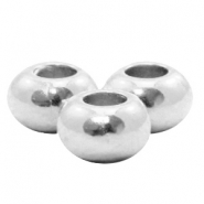 DQ European metal beads 6x3.5mm Antique Silver (nickel free)