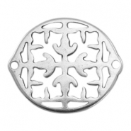 DQ European metal charms connector Antique Silver (nickel free)