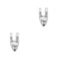 DQ European metal charms tooth Antique Silver (nickel free)