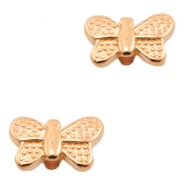 DQ European metal beads butterfly Rose Gold (nickel free)