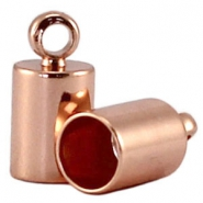 DQ end cap 4mm  DQ Rose Gold durable plating