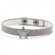 Ready-made bracelets stud star Cloudy Grey