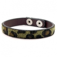 Ready-made bracelets leopard Olive green