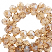 Top faceted beads 6x4mm disc Topaz-Top Shine Coating