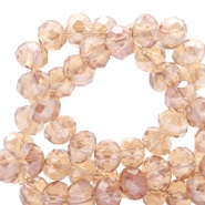 Top faceted beads 4x3mm disc Light Topaz-Top Shine Coating