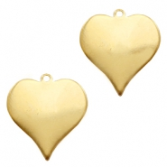 ImpressArt stamping blanks charms heart 20mm Brass Light Gold