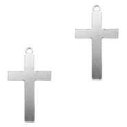 ImpressArt stamping blanks charms cross 33x19mm Aluminum Silver