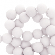 6 mm acrylic beads Chalk Grey