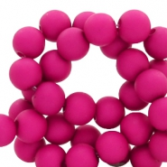 8 mm acrylic beads Deep Magenta Purple