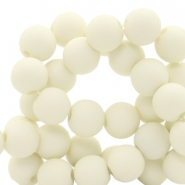 8 mm acrylic beads Pastel Yellow