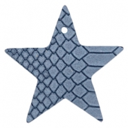 DQ European leather pendants star Coronet Blue