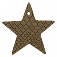 DQ European leather pendants star Etherea Brown