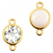 DQ metal setting 2 loops for 7mm cabochon and SS34 flatback stone Gold (nickel free)
