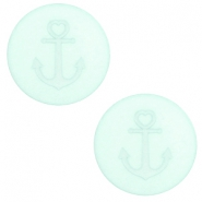 12 mm flat Polaris Elements cabochon Anchor Gossamer Green