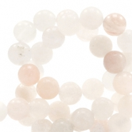 4 mm natural stone beads round jade Soft Lace Peach