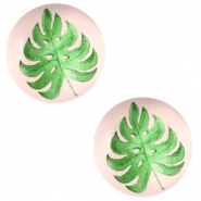 Basic cabochon 20mm Tropical leaf-Creamy Peach
