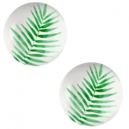 Basic cabochon 20mm Fern Leaf-Light Grey