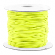 Coloured elastic cord 0.8mm Fluor Yellow