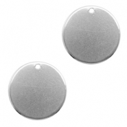 Stainless steel charms 20mm Silver