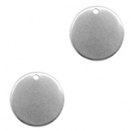 Stainless steel charms 18mm Silver