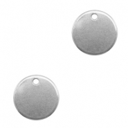 Stainless steel charms 12mm Silver