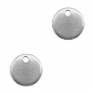Stainless steel charms 10mm Silver