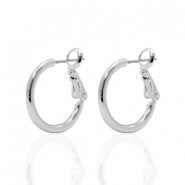 DQ creole earrings 18mm Silver Plated