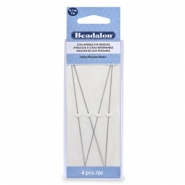 Beadalon Collapsible Eye Needles 12.7mm heavy Silver