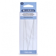 Beadalon Collapsible Eye Needles 12.7mm medium Silver